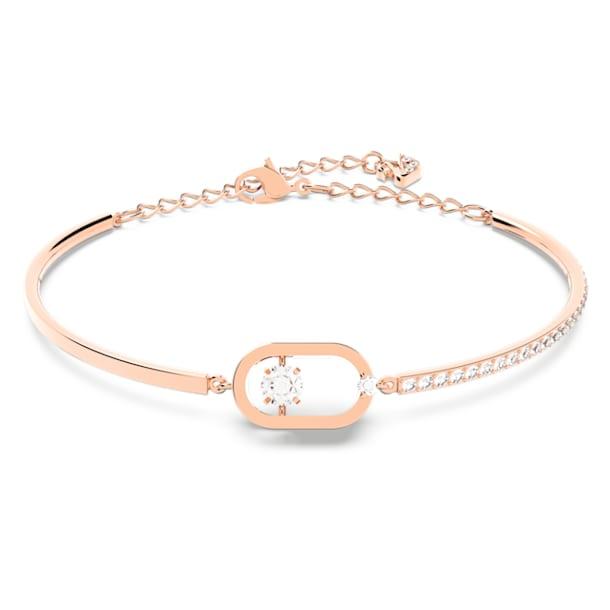 Bransoletka Swarovski Sparkling Dance Oval, Biały, Powłoka w odcieniu różowego złota - Swarovski, 5472382