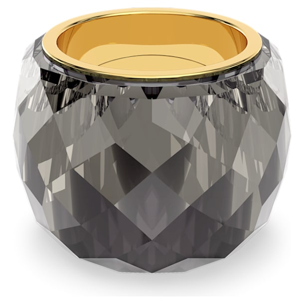 Nirvana Кольцо, Серый кристалл, PVD-покрытие оттенка золота - Swarovski, 5474356
