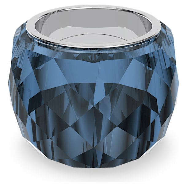 Nirvana ring, Blue, Stainless steel - Swarovski, 5474373