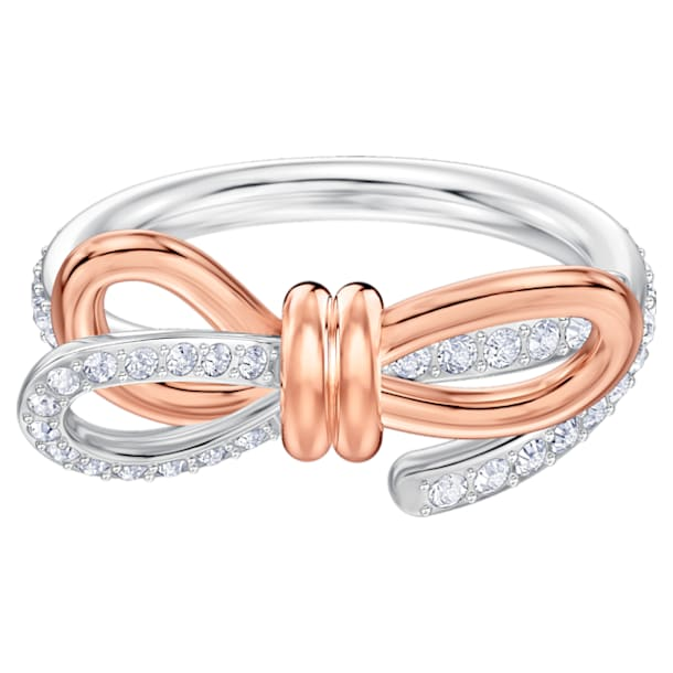 Lifelong Bow Ring, mittel, weiss, Metallmix - Swarovski, 5474930
