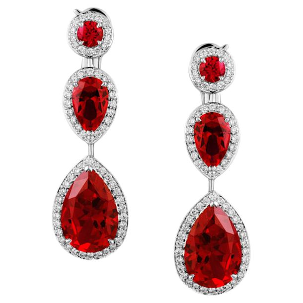 Lola Tear Drop Earrings, Swarovski Created Rubies, 18K White Gold - Swarovski, 5476749