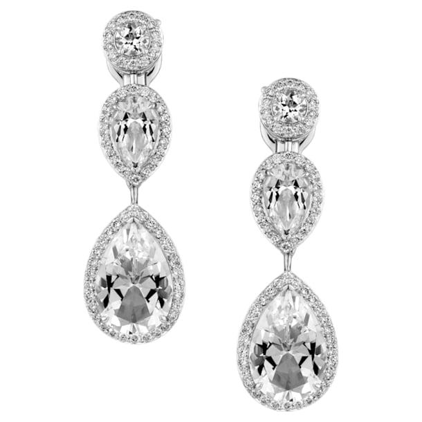 Lola Tear Drop Earrings, Swarovski Genuine Topaz & Swarovski Created Diamonds, 18K White Gold - Swarovski, 5476750