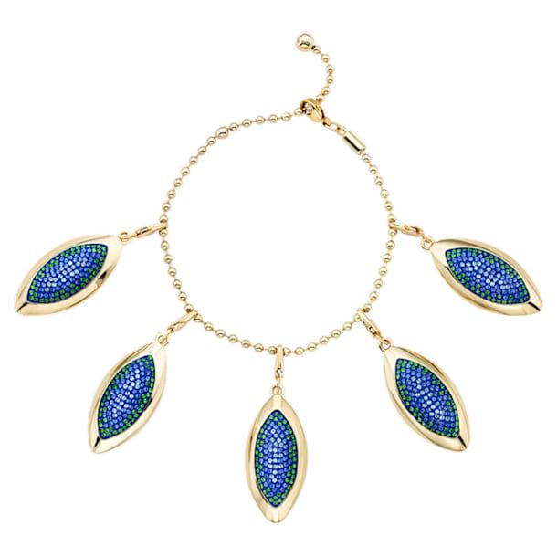 Evil Eye Bracelet, Blue, Gold-tone plated - Swarovski, 5477549