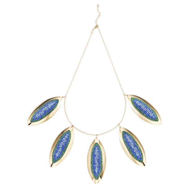 Evil Eye Statement Necklace, Blue, Gold-tone plated - Swarovski, 5477554