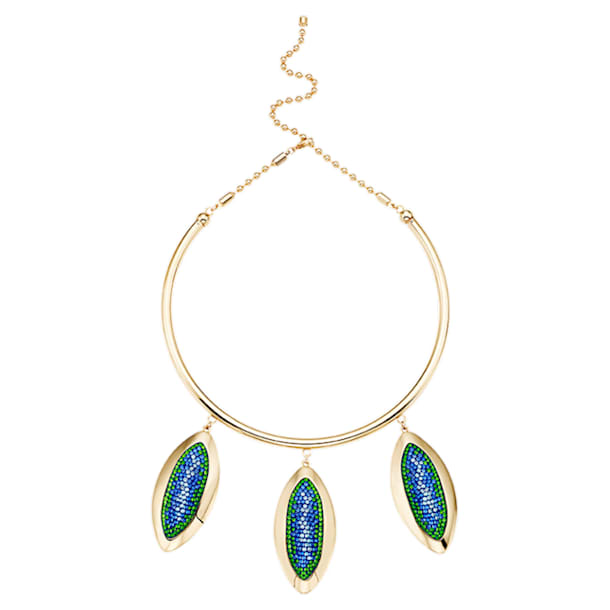 Collana Evil Eye, blu, placcato color oro - Swarovski, 5477641