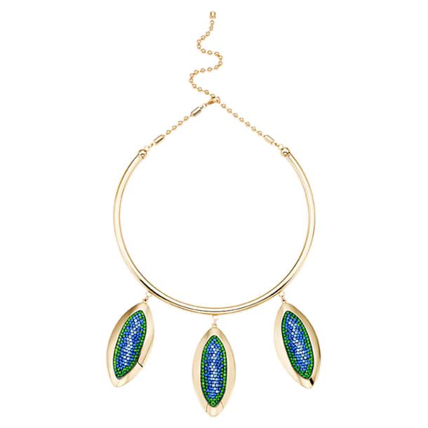 Evil Eye Necklace, Blue, Gold-tone plated - Swarovski, 5477641