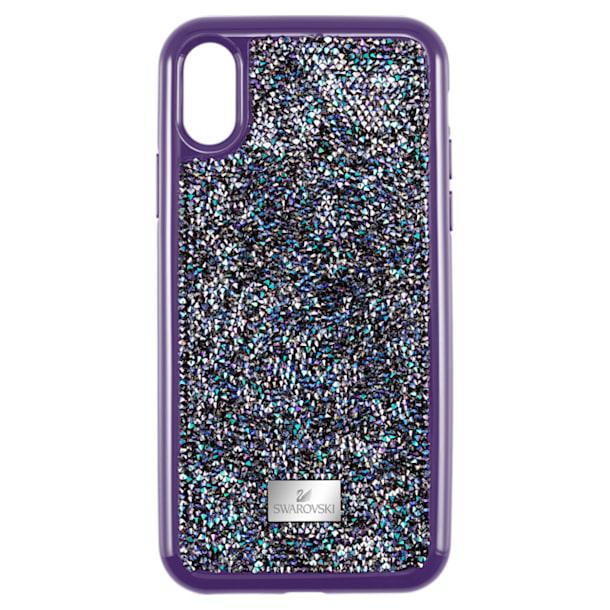 Etui na smartfona Glam Rock z ramką chroniącą przed uderzeniem, iPhone® XS Max, fioletowe - Swarovski, 5478875