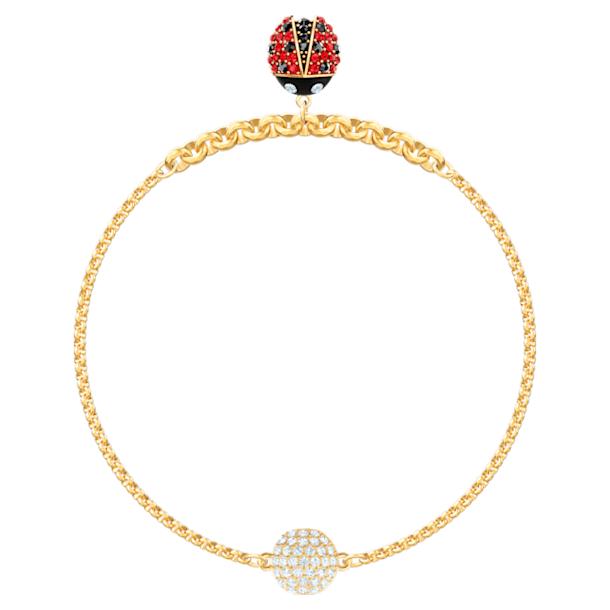 Swarovski Remix Collection Ladybug Strand, Multi-colored, Gold-tone plated - Swarovski, 5479016