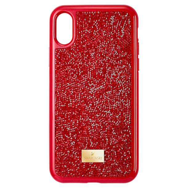 Pouzdro na chytrý telefon Glam Rock, iPhone® X/XS , Červená - Swarovski, 5479960