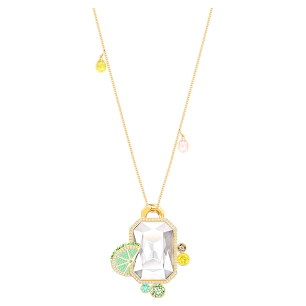 No Regrets Pendant, Multi-colored, Gold-tone plated - Swarovski, 5480241