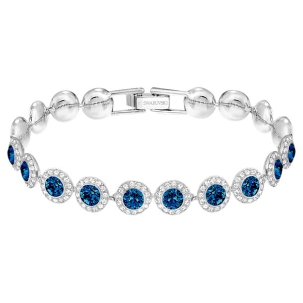 Angelic Bracelet, Blue, Rhodium plated - Swarovski, 5480484