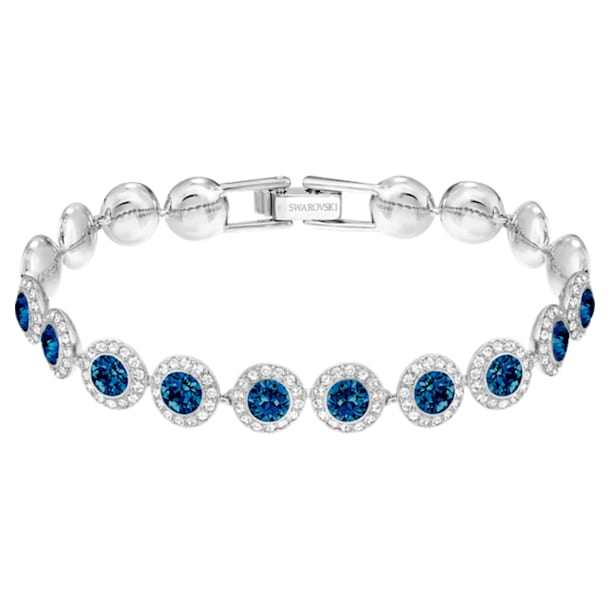 Angelic Bracelet, Blue, Rhodium plated - Swarovski, 5480484