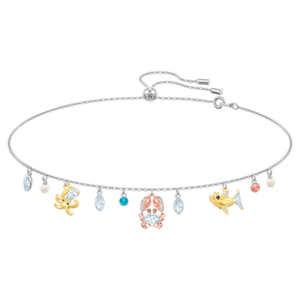 Ocean Choker, Multi-coloured, Mixed plating - Swarovski, 5480781