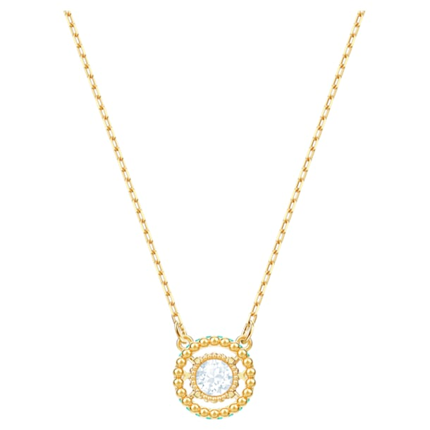 Oxygen Necklace, Multi-colored, Gold-tone plated - Swarovski, 5481256