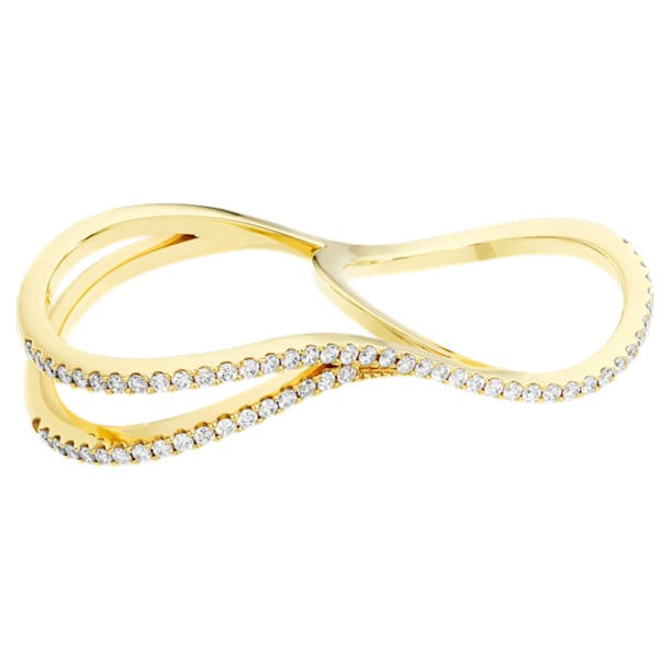 Arc-en-ciel Double Ring, 18K Yellow Gold, Size 55 - Swarovski, 5481737