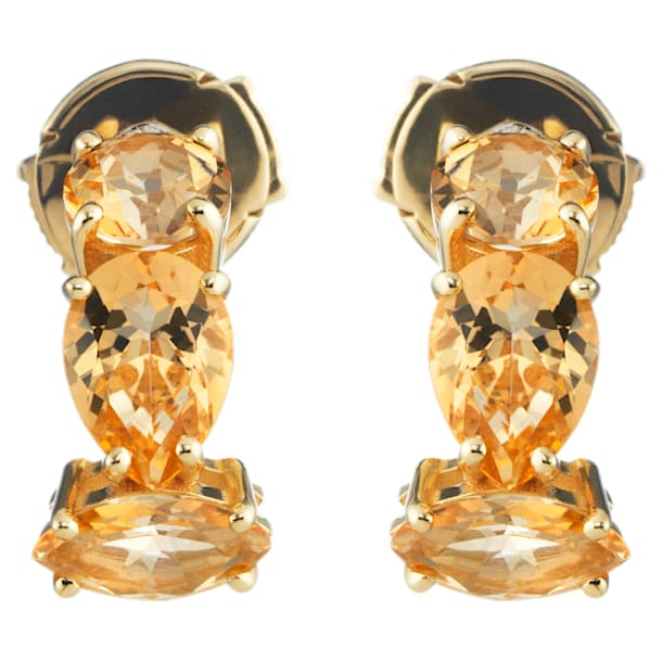 Arc-en-ciel Earrings, Honey Color Treated Swarovski Genuine Topaz, 18K Yellow Gold - Swarovski, 5481744