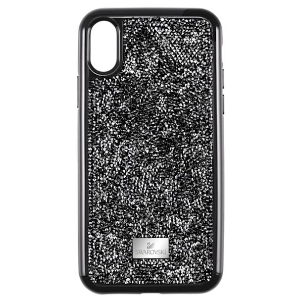 Glam Rock smartphone case , iPhone® XR, Black - Swarovski, 5482282