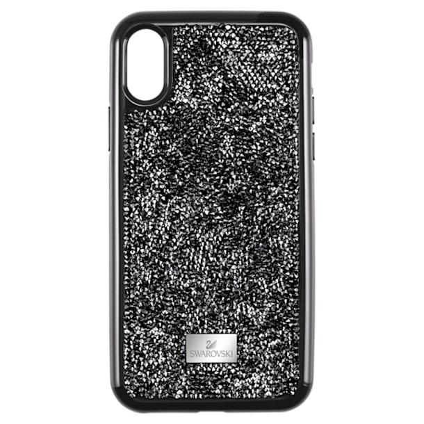 Glam Rock okostelefon tok, iPhone® XS Max, Fekete - Swarovski, 5482283