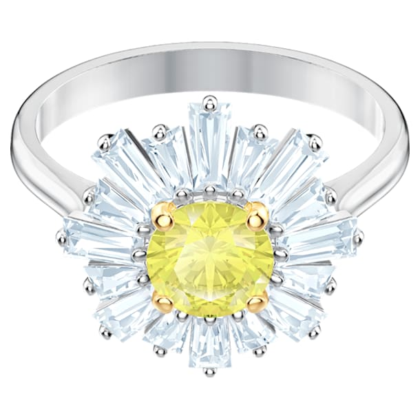 Sunshine Ring, gelb, Rhodiniert - Swarovski, 5482701