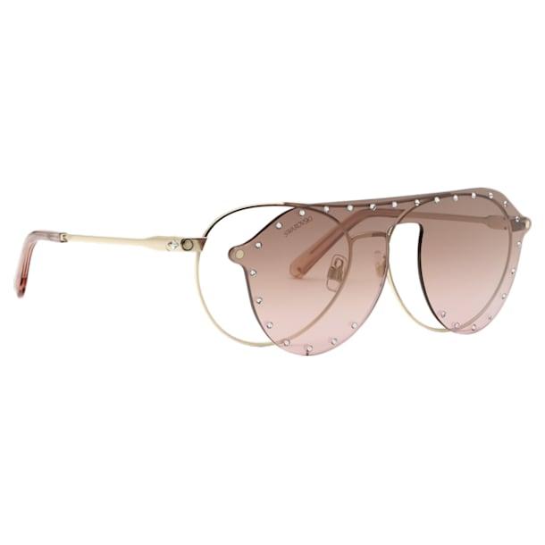 Okulary przeciwsłoneczne Swarovski z nakładką SK0276-H 54032, różowe - Swarovski, 5483811