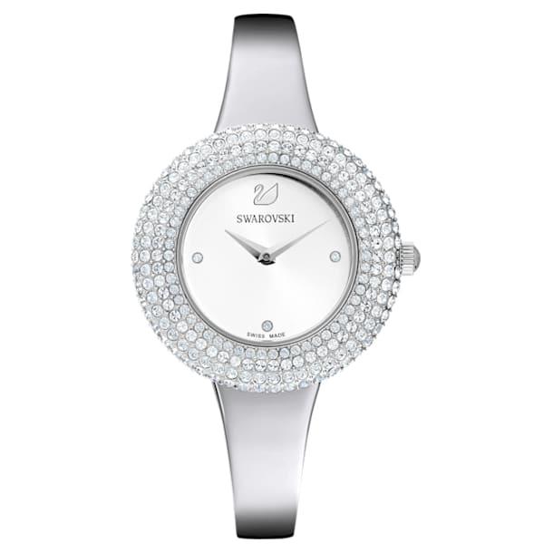 Crystal Rose horloge, Metalen armband, Zilverkleurig, Roestvrij staal - Swarovski, 5483853