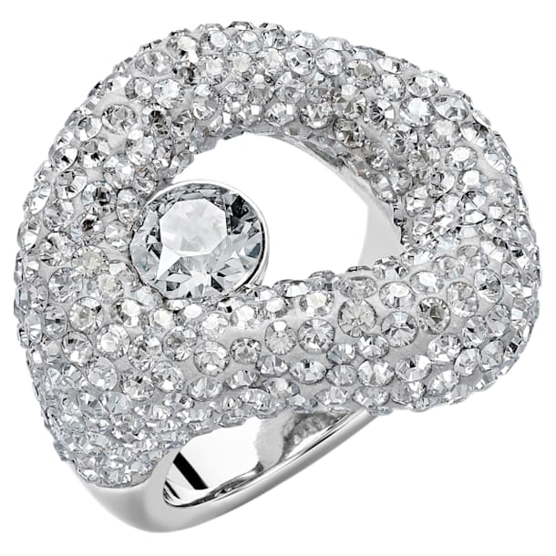 Tigris Ring, Gray, Palladium plated - Swarovski, 5483923