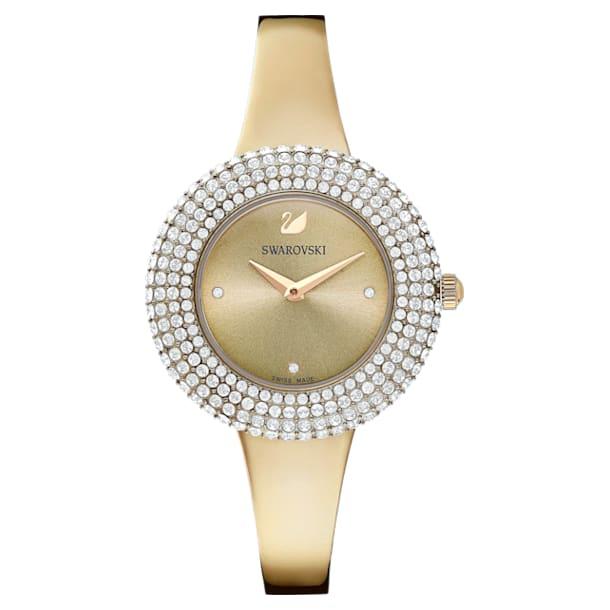Crystal Rose 腕表, 金属手链, 金色, 香槟金色调 PVD - Swarovski, 5484045