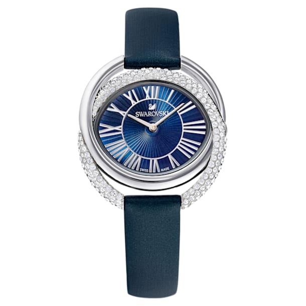 Ρολόι Duo, δερμάτινο λουράκι, μπλε, ανοξείδωτο ατσάλι - Swarovski, 5484376