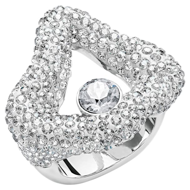 Tigris Open Ring, Gray, Palladium plated - Swarovski, 5484501
