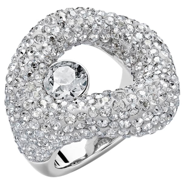 Tigris Ring, Grey, Palladium plated - Swarovski, 5484505