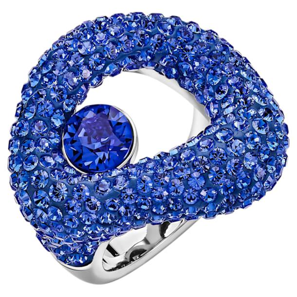 Bague Tigris, bleu, Métal plaqué palladium - Swarovski, 5484512