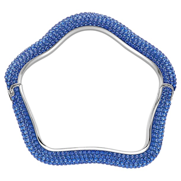 Pulsera Tigris, azul, Baño de Paladio - Swarovski, 5484516