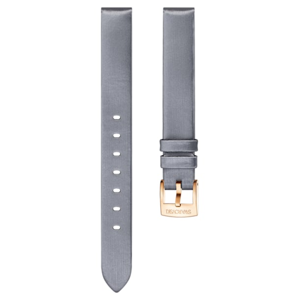 14mm Watch strap, Silk, Gray, Rose-gold tone plated - Swarovski, 5484613