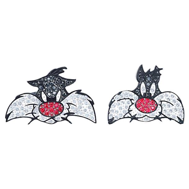 Looney Tunes Sylvester cufflinks, Multicolored, Rhodium plated - Swarovski, 5484687
