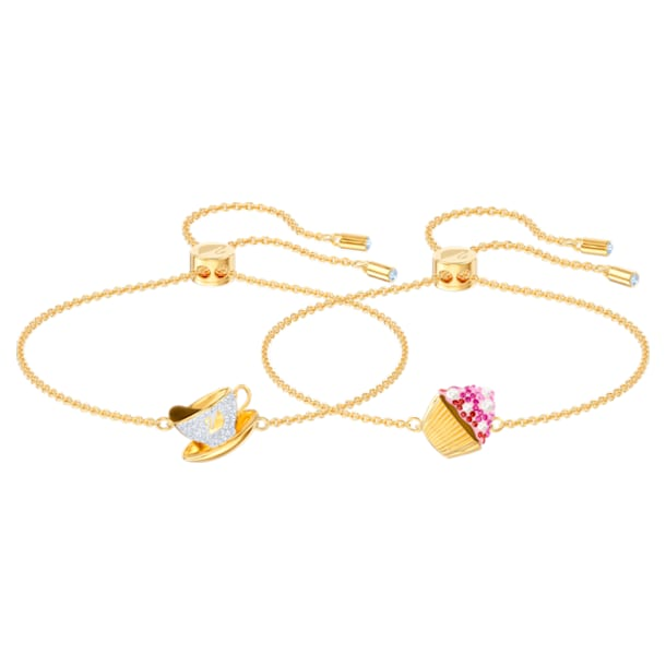 Nicest set, Multicolored, Gold-tone plated - Swarovski, 5486079