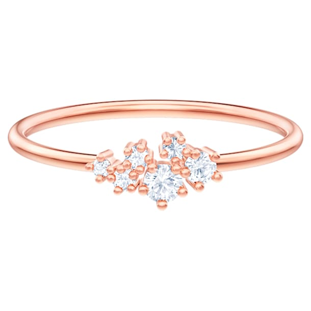 Moonsun Ring, White, Rose-gold tone plated - Swarovski, 5486819