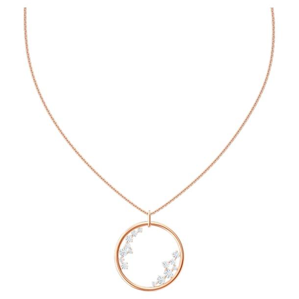 North Pendant, White, Rose-gold tone plated - Swarovski, 5487069