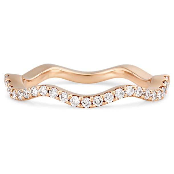 Arc-en-ciel Thin Band Ring, 18K White Gold, Size 55 - Swarovski, 5487462