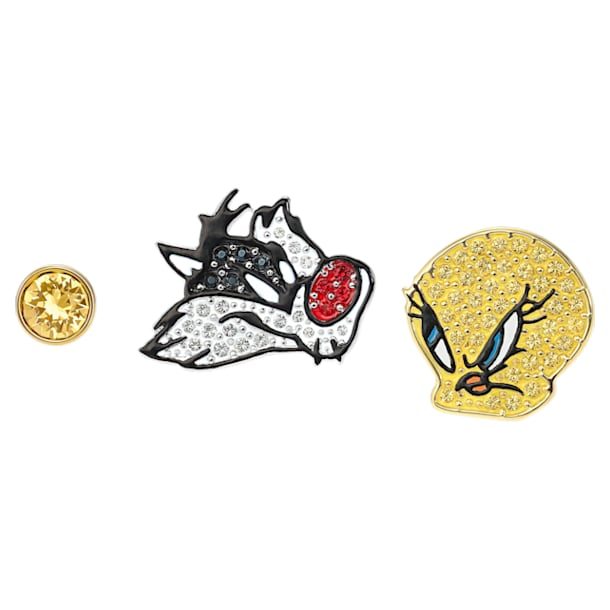 Looney Tunes Pierced Earrings, Multi-colored, Mixed metal finish - Swarovski, 5487639