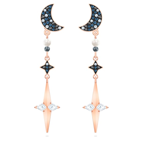 Swarovski Symbolic Pierced Earring Jackets, Multi-colored, Mixed metal finish - Swarovski, 5489533