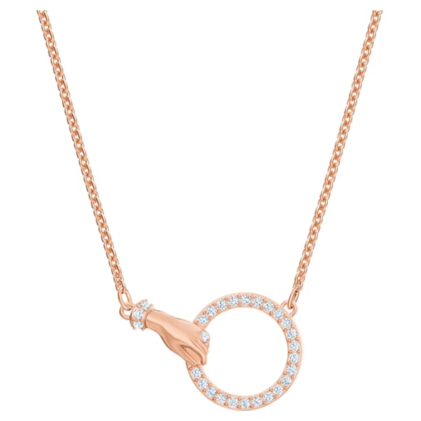 Collar Swarovski Symbolic, blanco, Baño en tono Oro Rosa - Swarovski, 5489573