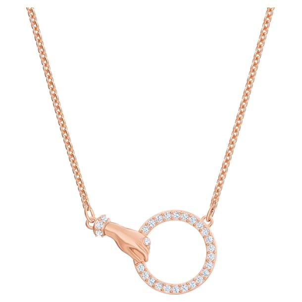 Naszyjnik Swarovski Symbolic, Dłoń, Biały, Powłoka w odcieniu różowego złota - Swarovski, 5489573