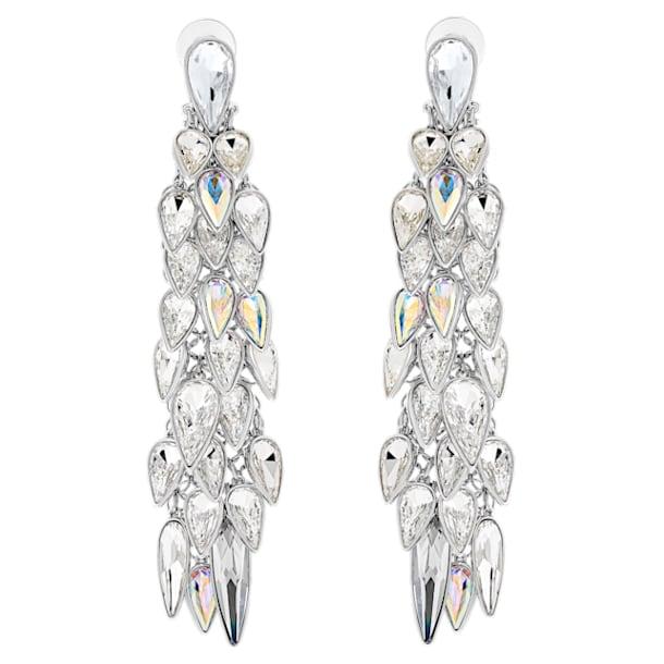 Polar Bestiary 夾式耳環, 多色設計, 鍍銠 - Swarovski, 5490238