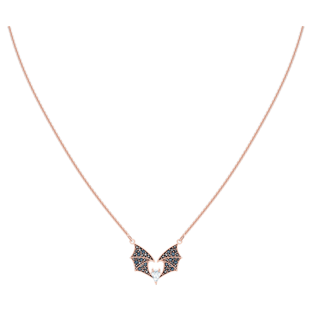 Prosperity Necklace, Multi-coloured, Rose-gold tone plated - Swarovski, 5491564