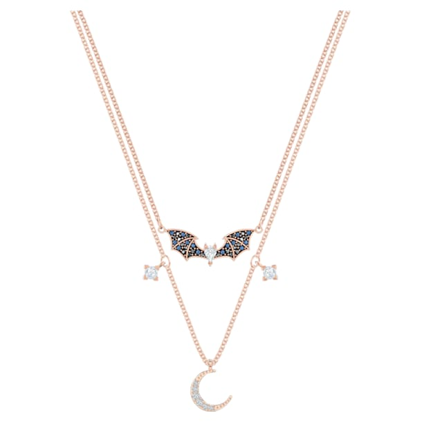 Prosperity Necklace, Multi-colored, Rose-gold tone plated - Swarovski, 5491565