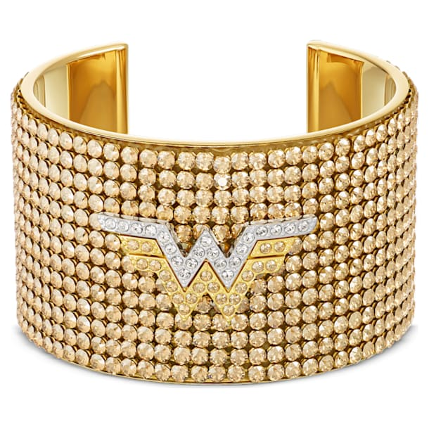 Fit Wonder Woman Cuff, Gold tone, Mixed metal finish - Swarovski, 5492145