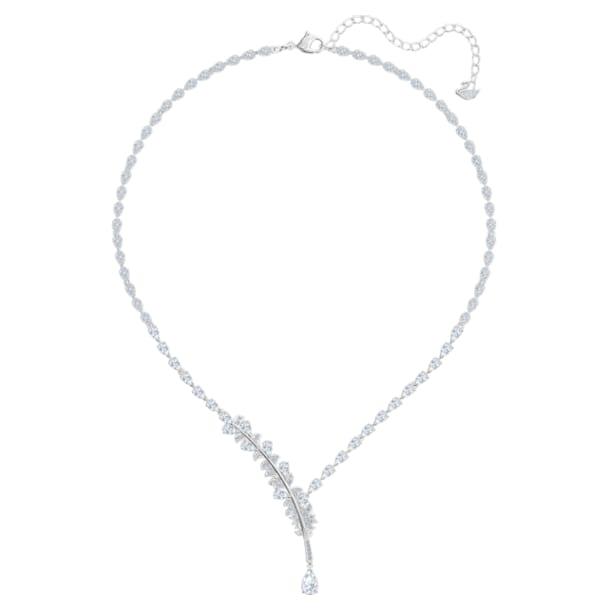 Nice Necklace, White, Rhodium plated - Swarovski, 5493401