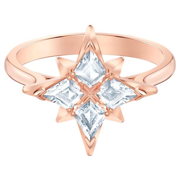 Swarovski Symbolic ring, Star, 55, White, Rose-gold tone plated - Swarovski, 5494346