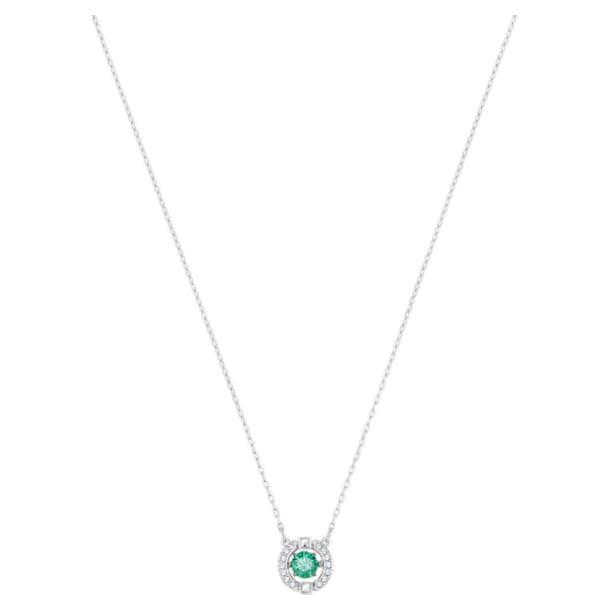 Swarovski Sparkling Dance Necklace, Green, Rhodium plated - Swarovski, 5496308