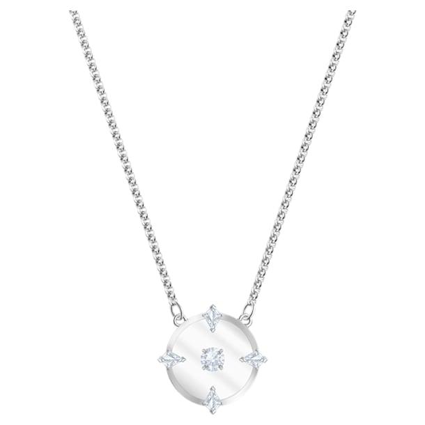 Collier North, blanc, Métal rhodié - Swarovski, 5497232